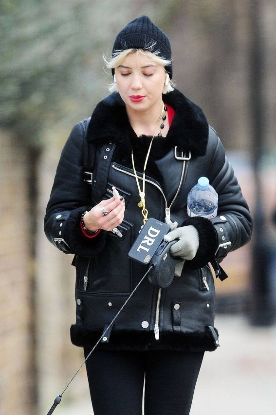 Daisy Lowe Out with Her Dog in London 2018/12/11 1