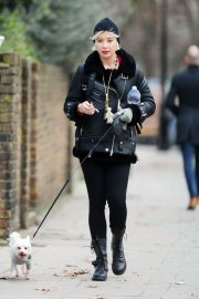 Daisy Lowe Out with Her Dog in London 2018/12/11 2