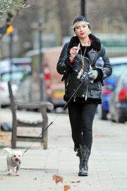 Daisy Lowe Out with Her Dog in London 2018/12/11 9