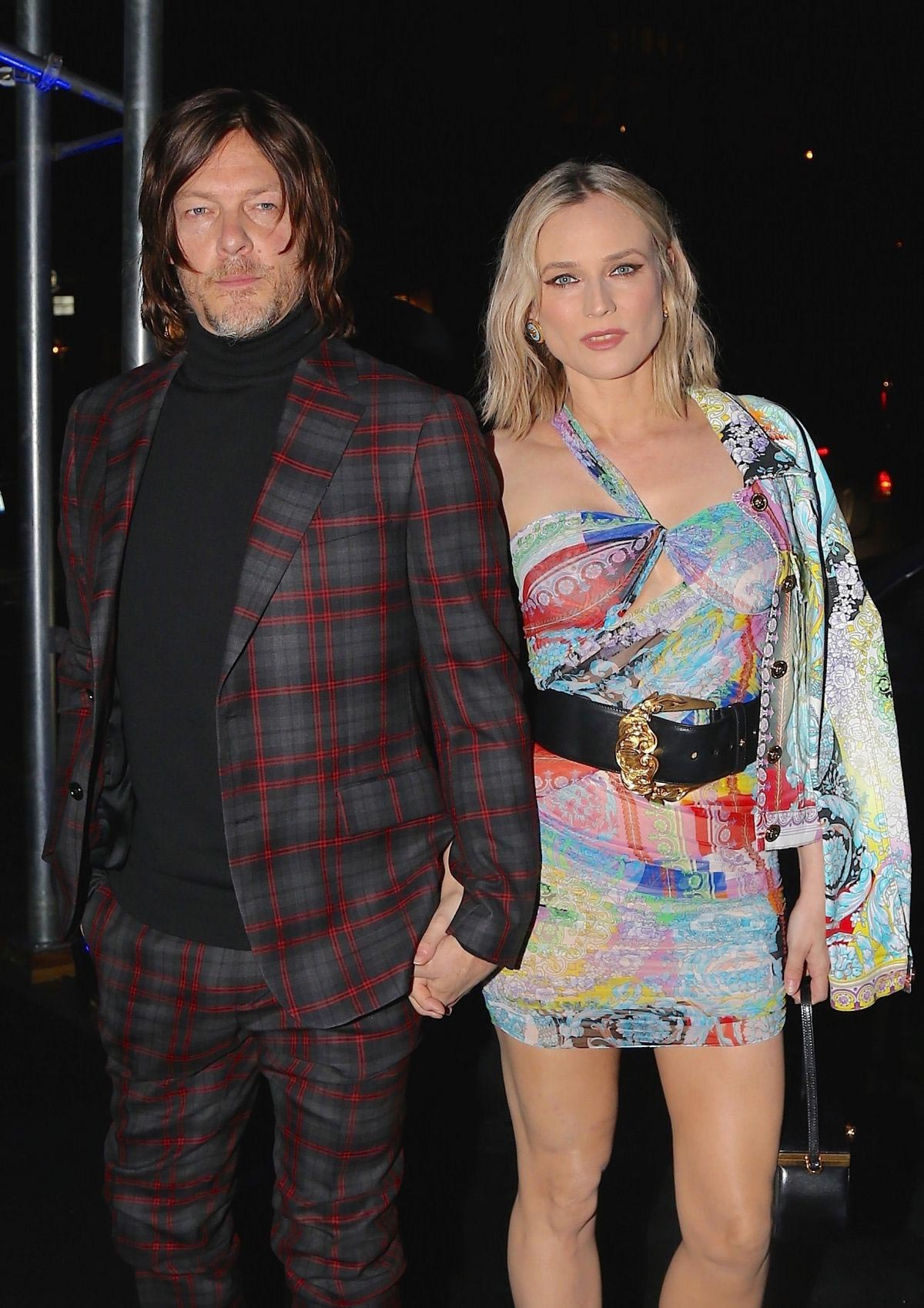 Diane Kruger and Norman Reedus Arrives at Versace Fashion Show in New York 2018/12/02 1