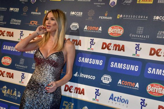 Diletta Leotta at Gran Gal of Football in Milan 2018/12/03 1