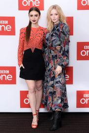 Ellie Bamber and Lily Collins at Les Miserables Photocall in London 2018/12/05 5