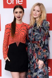 Ellie Bamber and Lily Collins at Les Miserables Photocall in London 2018/12/05 6