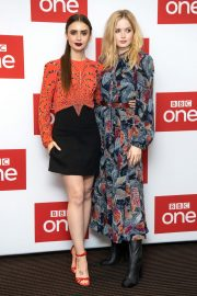 Ellie Bamber and Lily Collins at Les Miserables Photocall in London 2018/12/05 12