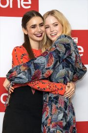 Ellie Bamber and Lily Collins at Les Miserables Photocall in London 2018/12/05 13