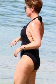 Emma Forbes in Swimsuit on Holiday in Barbados 2018/12/24 11