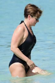 Emma Forbes in Swimsuit on Holiday in Barbados 2018/12/24 12