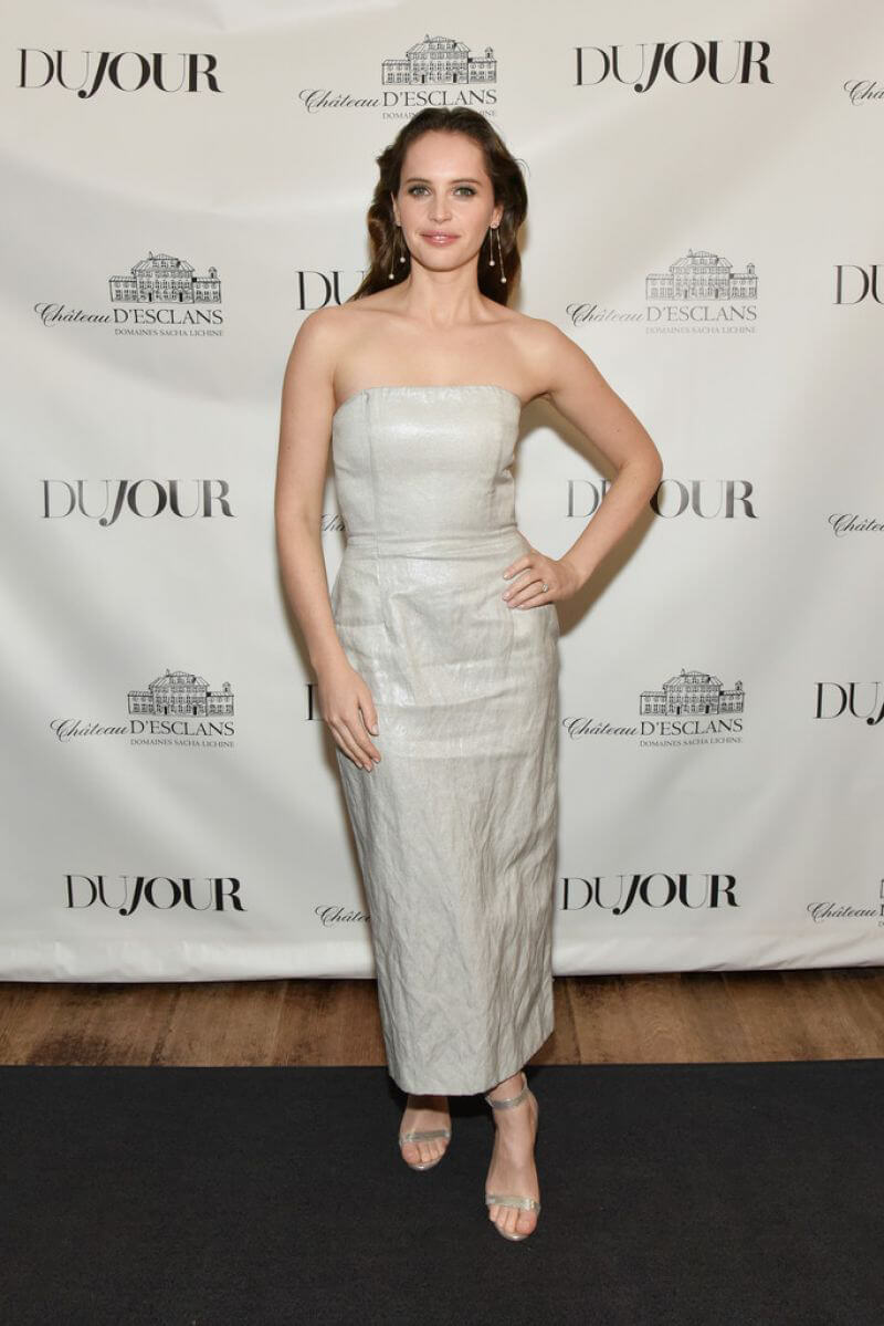Felicity Jones at Dujour Magazine Winter Issue Celebration in New York 2018/12/17 1