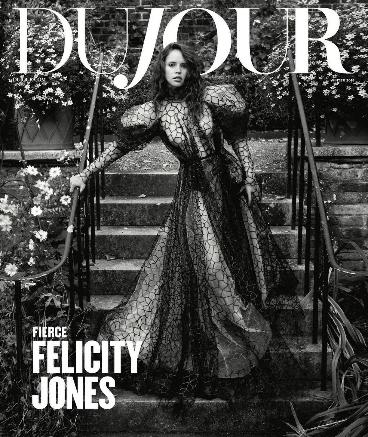 Felicity Jones in Dujour Magazine, November 2018 Issue 1