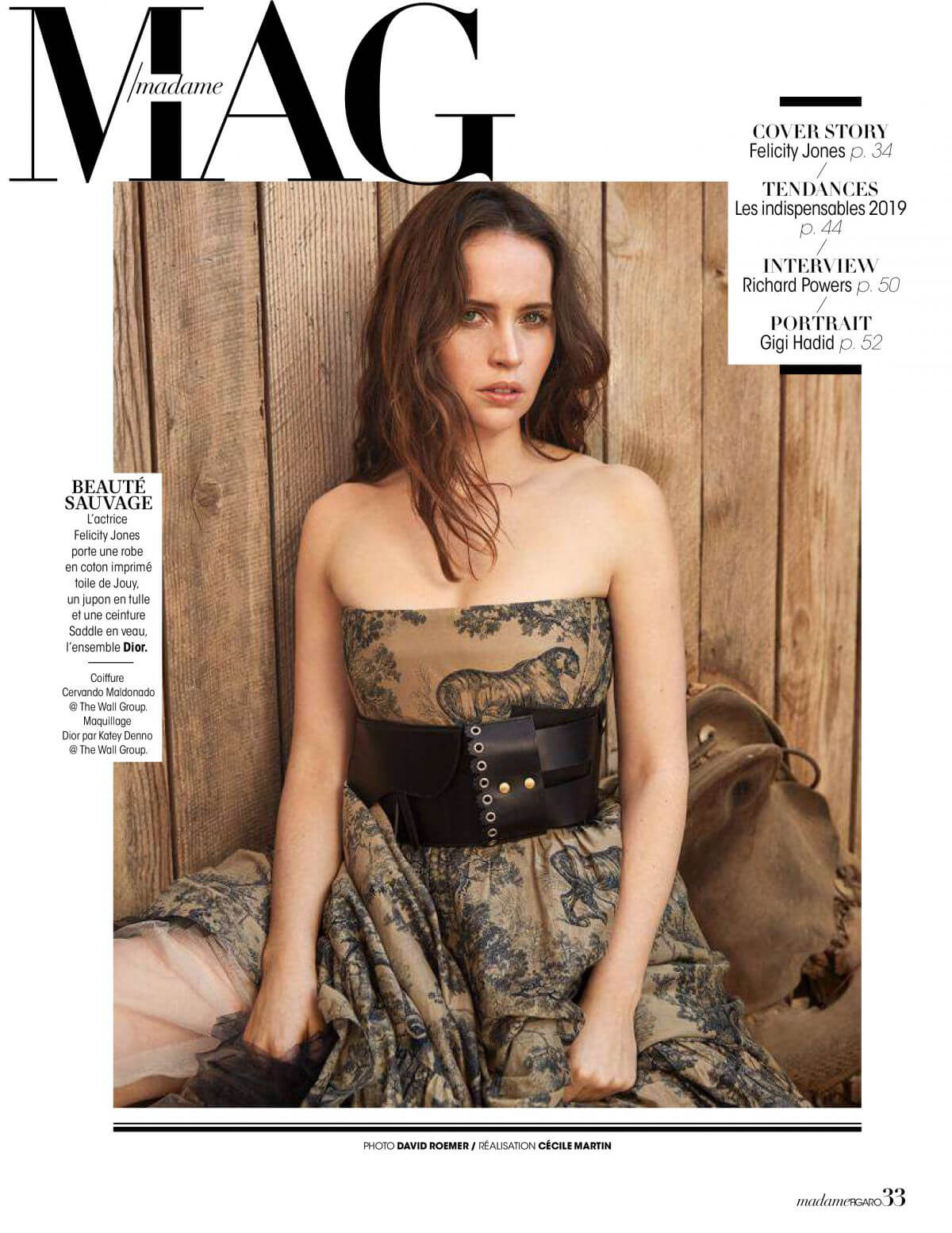 Felicity Jones in Madame Figaro, December 2018 1