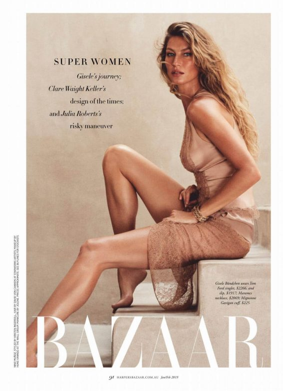 Gisele Bundchen in Harper's Bazaar Magazine, Australia January 2019 1