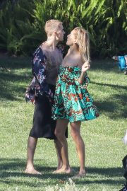 Hailey Baldwin and Justin Bieber on the Set of a Photoshoot in Los Angeles 2018/12/04 4