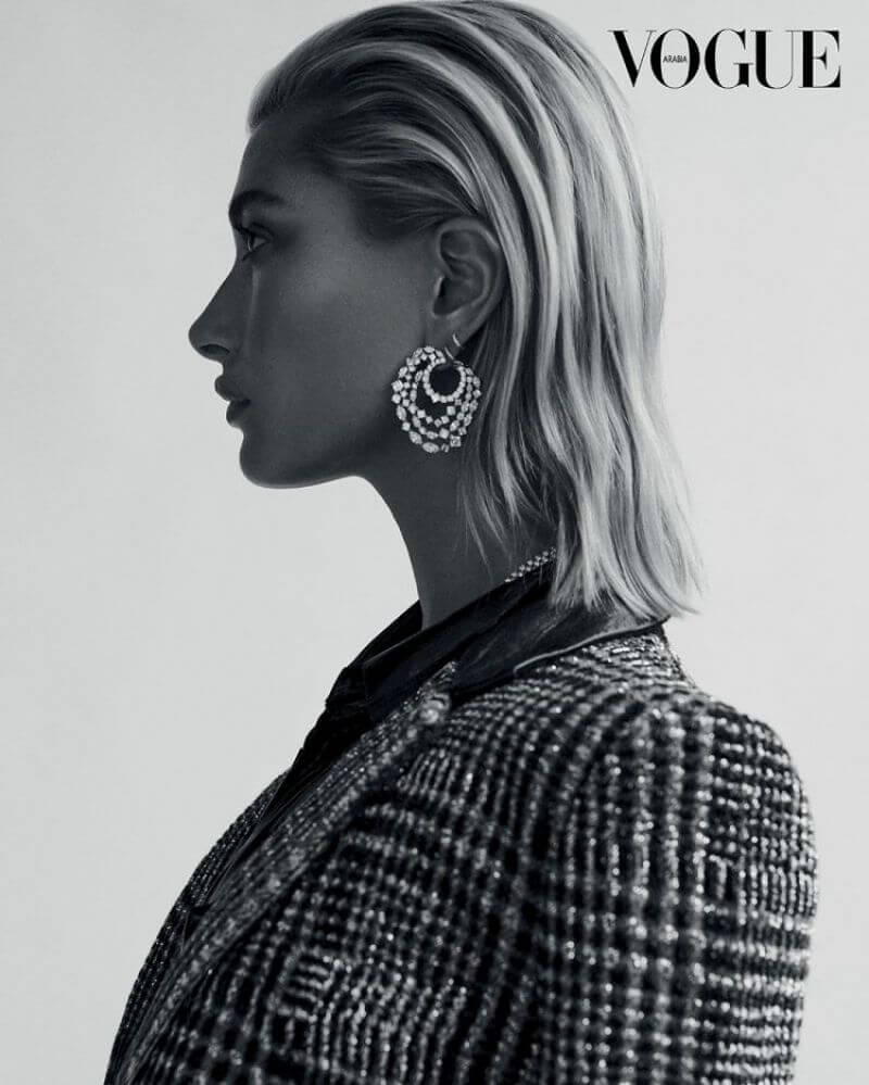 Hailey Baldwin in Vogue Magazine, Arabia December 2018