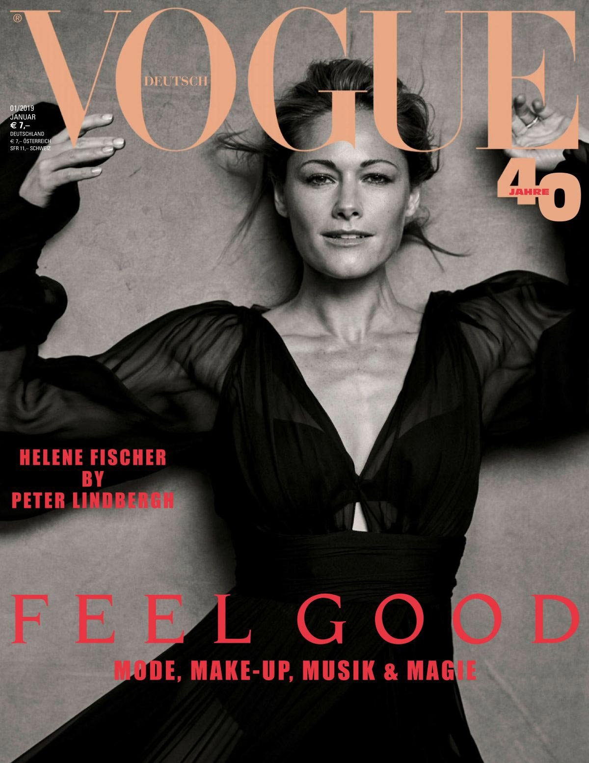 Vogue The Top Selling Fashion Magazine: Helene Fischer In Vogue Magazine, Germany January 2019