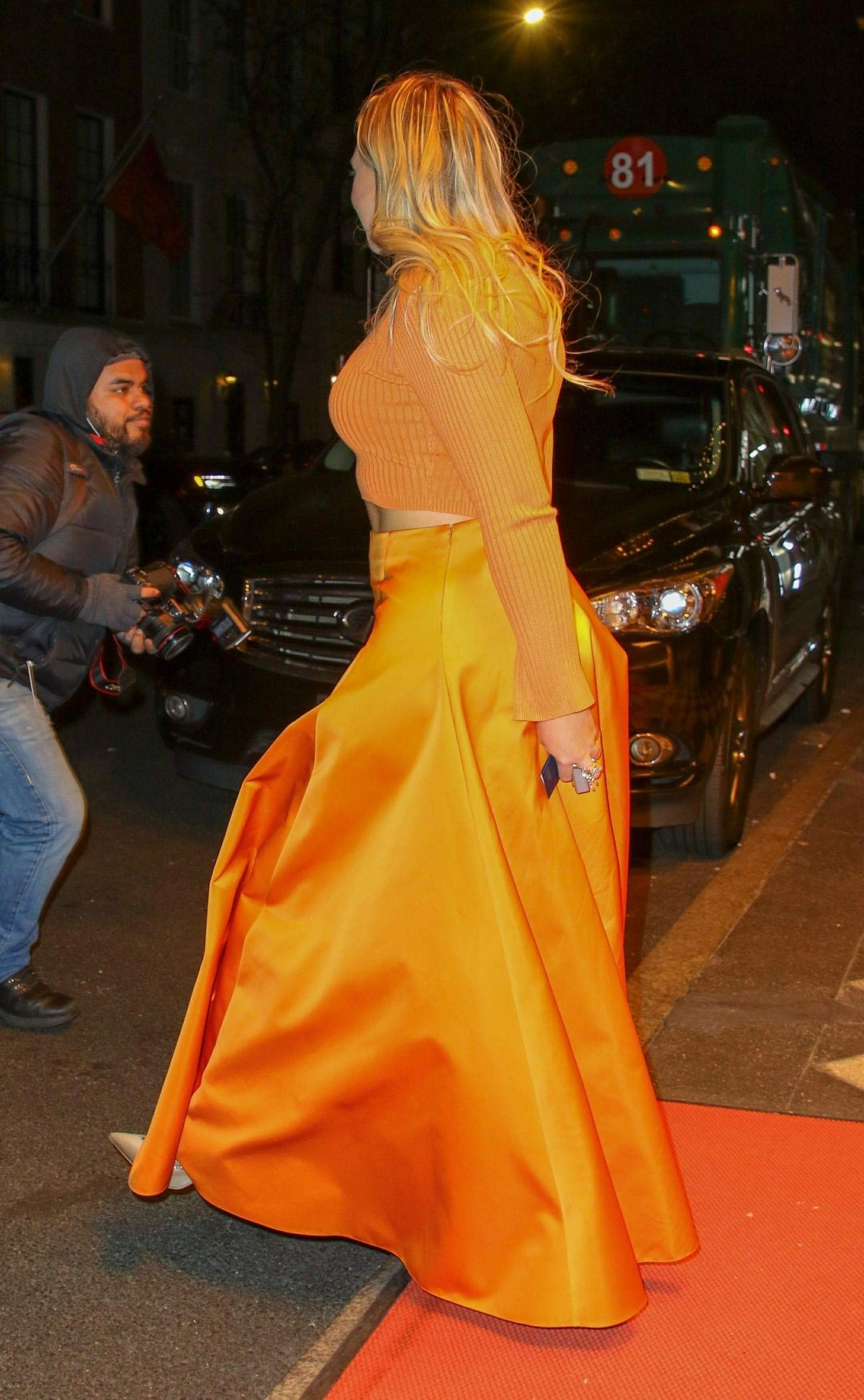 Iskra Lawrence Leaves L'Oreal Event in New York 2018/12/05