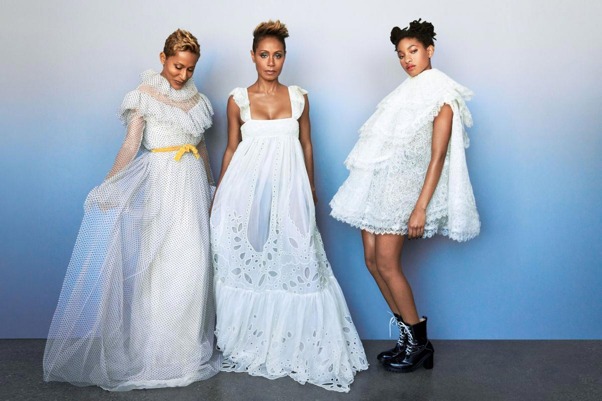 Jada Pinkett Smith, Willow Smith and Adrienne Banfield-Norris for Harper's Bazaar, December 2018 1