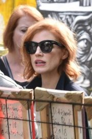 Jessica Chastain Out on Batman Alley in Sao Paulo 2018/12/08 2