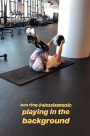 Joanna JoJo Levesque Working Out at a Gym, Instagram Video, December 2018 1