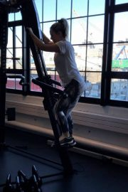 Joanna JoJo Levesque Working Out at a Gym, Instagram Video, December 2018 2