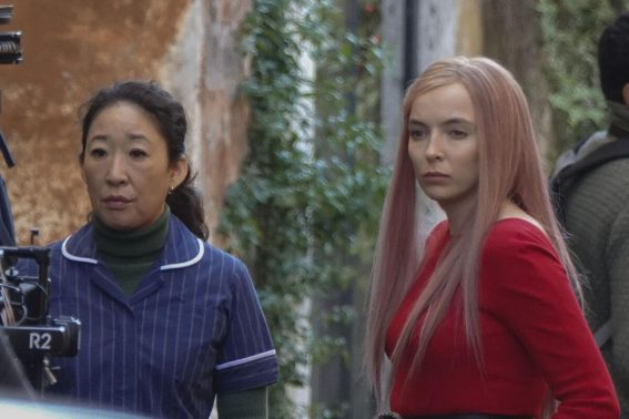 Jodie Comer and Sandra Oh on the Set of Killing Eve, Second Season in Rome 2018/12/04 1