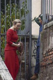 Jodie Comer and Sandra Oh on the Set of Killing Eve, Second Season in Rome 2018/12/04 4