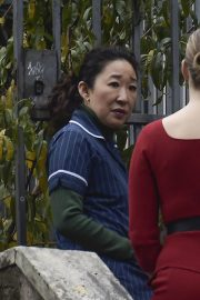 Jodie Comer and Sandra Oh on the Set of Killing Eve, Second Season in Rome 2018/12/04 9