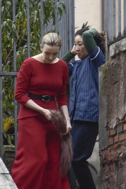 Jodie Comer and Sandra Oh on the Set of Killing Eve, Second Season in Rome 2018/12/04 10