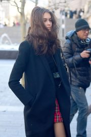 Kaia Gerber Arrives at Chanel Metiers D'Art Show Pre-fall 2019 in New York 2018/12/04 2