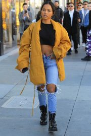 Karrueche Tran in Ripped Jeans Out Shopping in Beverly Hills 2018/12/28 11