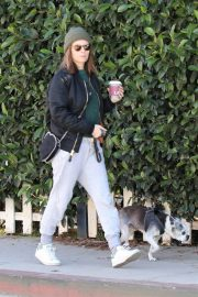 Kate Mara and Jamie Bell Out with Their Dogs in Los Angeles 2018/12/15 2