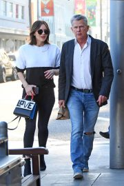 Katharine McPhee and David Foster Il Pastaio Restaurant in Beverly Hills 2018/12/15 5