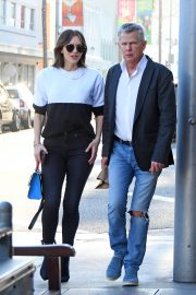 Katharine McPhee and David Foster Il Pastaio Restaurant in Beverly Hills 2018/12/15 10