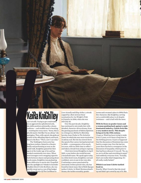 Keira Knightley in Empire Magazine, UK February 2019 1