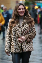 Kelly Brook Arrives at Heart Radio in London 2018/12/03 2
