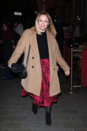 Kimberley Walsh Arrives at Gaby Roslin Special Christmas Show in London 2018/12/09 2