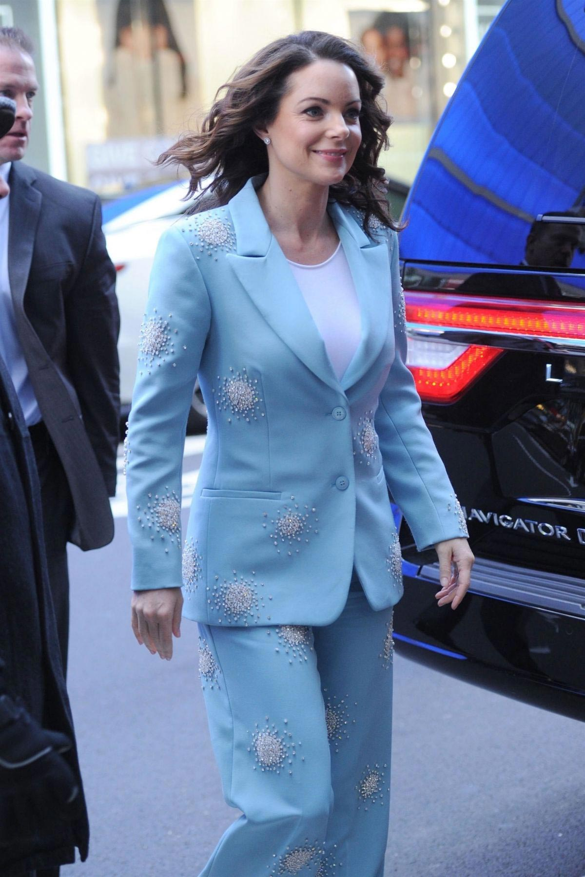 Kimberly Williams-Paisley Arrives at Good Morning America in New York 2018/12/04