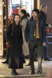 Lily Collins and Harry Treadaway Night Out in London 2018/12/04 4