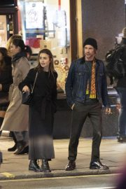 Lily Collins and Harry Treadaway Night Out in London 2018/12/04 5