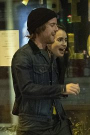 Lily Collins and Harry Treadaway Night Out in London 2018/12/04 7