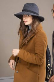 Lily Collins at JFK Airport in New York 2018/12/02 1