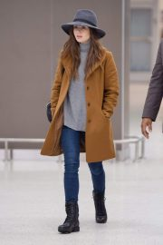Lily Collins at JFK Airport in New York 2018/12/02 2