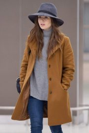 Lily Collins at JFK Airport in New York 2018/12/02 3