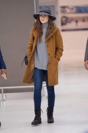 Lily Collins at JFK Airport in New York 2018/12/02 4