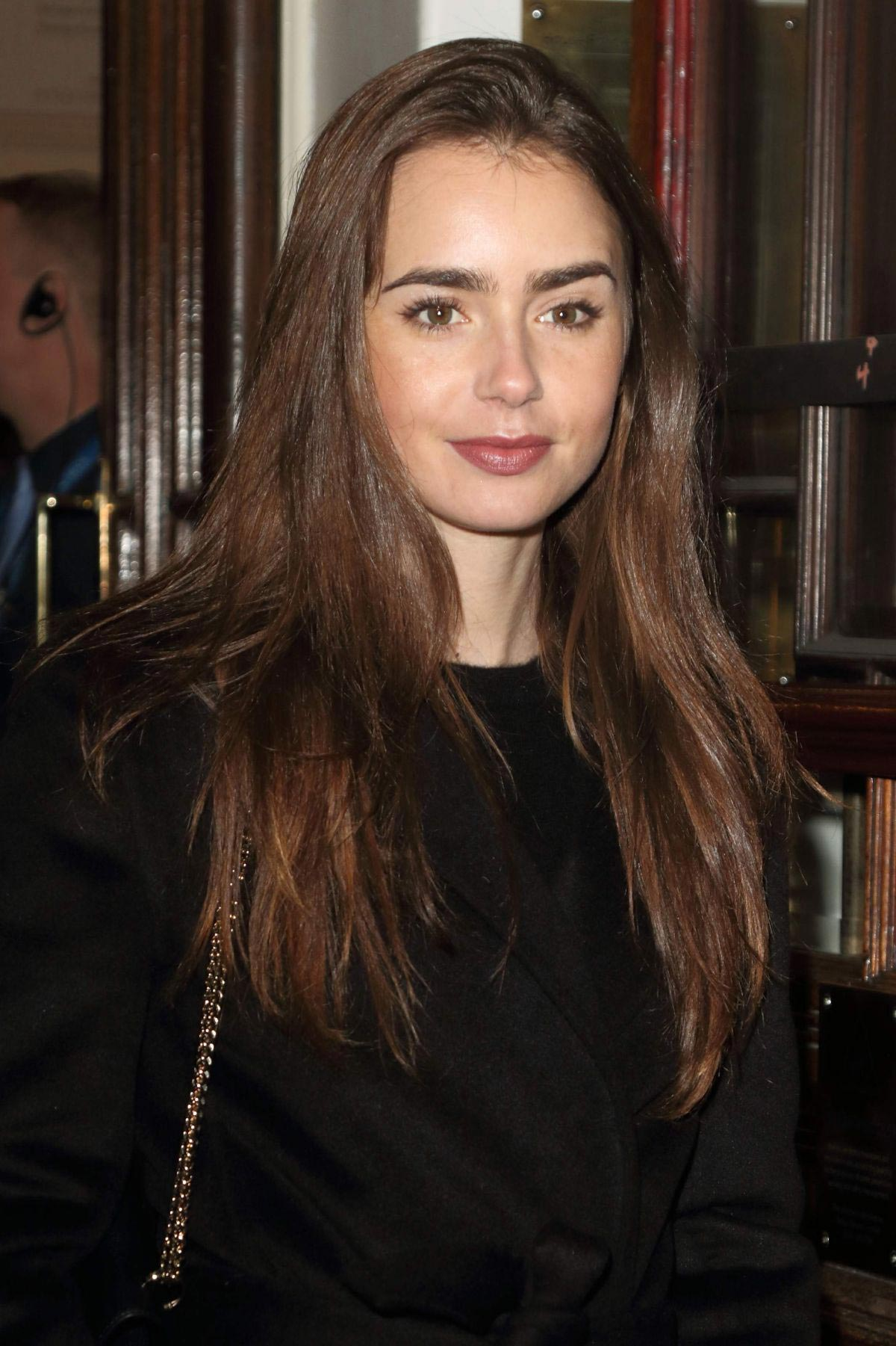 Lily Collins at Vaudeville Theatre in London 2018/12/04 1