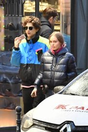 Lily-Rose Depp and Timothee Chalamet Out in Paris 2018/12/22 1