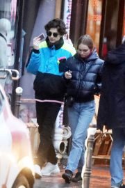 Lily-Rose Depp and Timothee Chalamet Out in Paris 2018/12/22 2