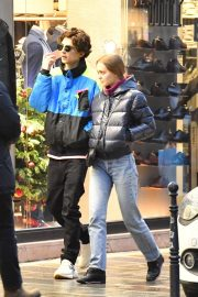 Lily-Rose Depp and Timothee Chalamet Out in Paris 2018/12/22 8