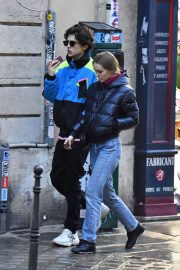Lily-Rose Depp and Timothee Chalamet Out in Paris 2018/12/22 9