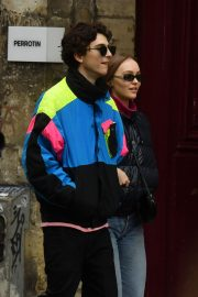 Lily-Rose Depp and Timothee Chalamet Out in Paris 2018/12/22 10