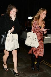 Lottie Moss and Emily Blackwell at Ours Restaurant in London 2018/11/29 2